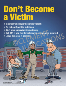 Don't Become a Victim Poster
