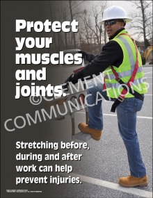 Protect Your Muscles and Joints Poster
