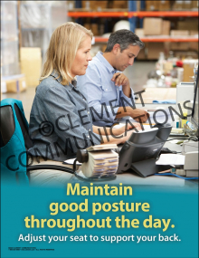 Maintain Good Posture Throughout the Day Poster
