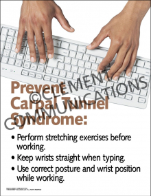 Prevent Carpal Tunnel Syndrome Poster