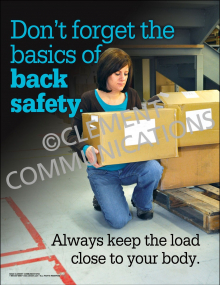 Don't Forget the Basics of Back Safety Poster