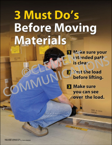 3 Must Do's Before Moving Materials Poster