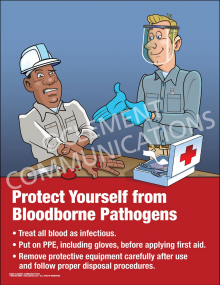 Protect Yourself From Bloodborne Pathogens Poster