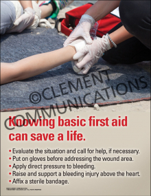 Knowing Basic First Aid Poster