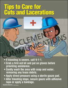 Tips to Care for Cuts and Lacerations Poster