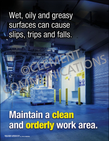 Maintain a Clean and Orderly Work Area Poster