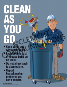 Clean As You Go Poster
