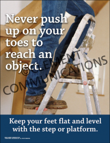 Never Push Up on Your Toes Poster