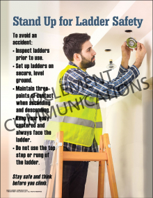 Stand Up for Ladder Safety Poster