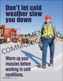 Don't Let the Cold Weather Poster