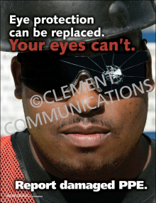Eye Protection Can Be Replaced Poster