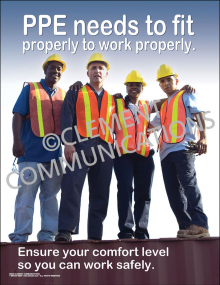 PPE Needs to Fit Poster