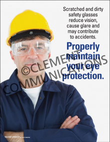 Maintain Eye Protection Poster