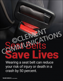 Seat Belts Save Lives Poster