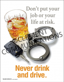 Never Drink and Drive Poster