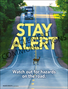 Watch Out for Hazards on the Road Poster