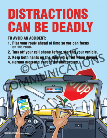 Distractions Can Be Deadly Poster