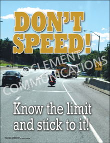 Don't Speed Poster