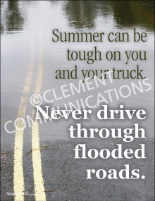 Never Drive Through Flooded Roads Poster