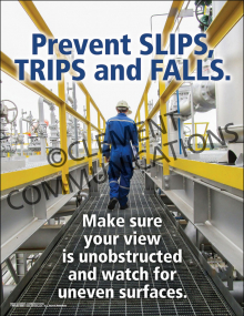 Prevent Slips, Trips and Falls Poster