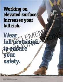 Wear Fall Protection Poster