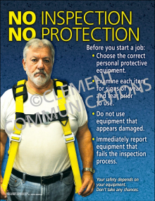 No Inspection No Protection Poster