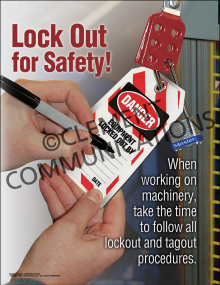 Lock Out for Safety Poster