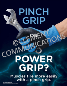 Pinch Grip or Power Grip Poster