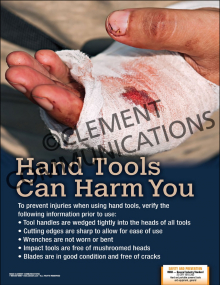 Hand Tools Can Harm You Poster