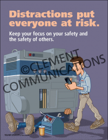 Distractions Put Everyone at Risk Poster