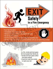 Evacuation infographic Poster