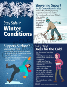 Winter Hazards Infographic