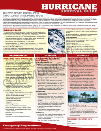 Emergency Preparedness Poster: Hurricane Survival Guide