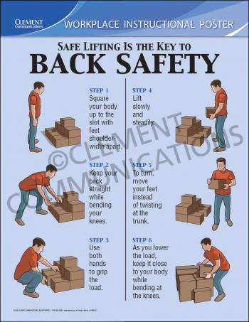 Safety Lifting Instructional Poster