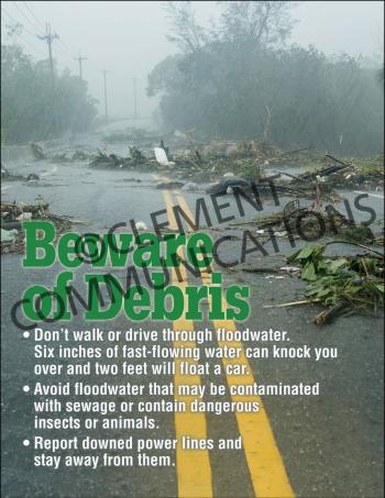 Beware of Debris Poster