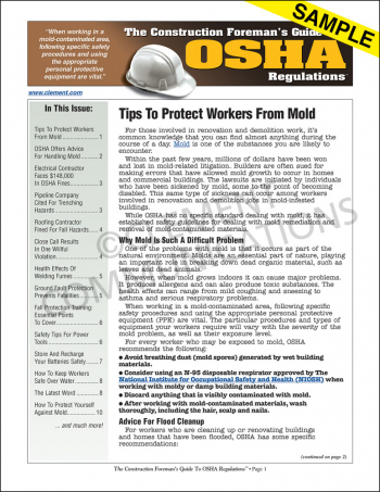 The Construction Foreman's Guide To OSHA Regulations™