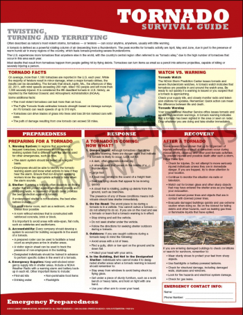 Emergency Preparedness Poster: Tornado Survival Guide