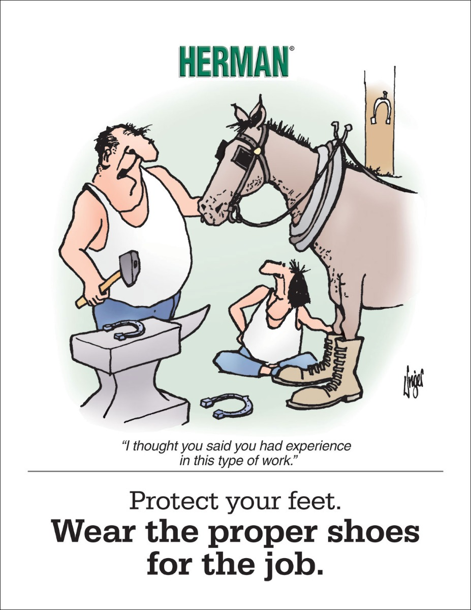 Herman Posters, Herman, Foot Protection