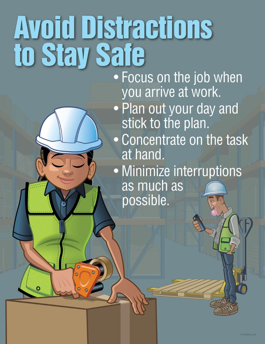 Safe Procedures Posters, Distractions, LOTO, Safe Lifting