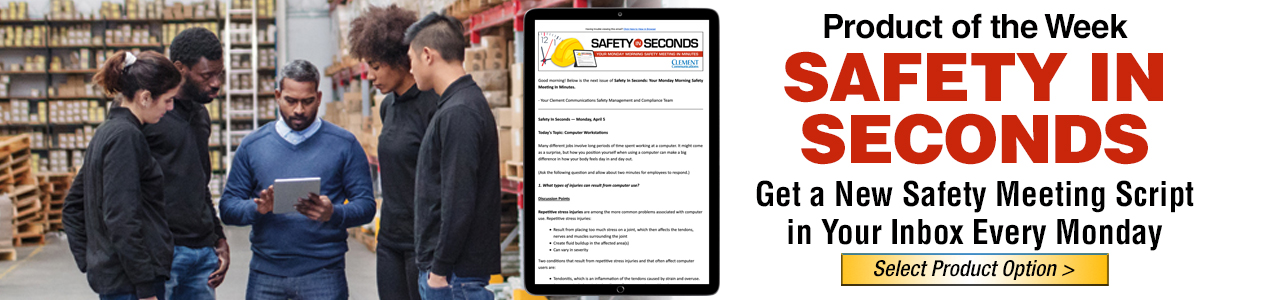 Safety in Seconds, Safety Meetings